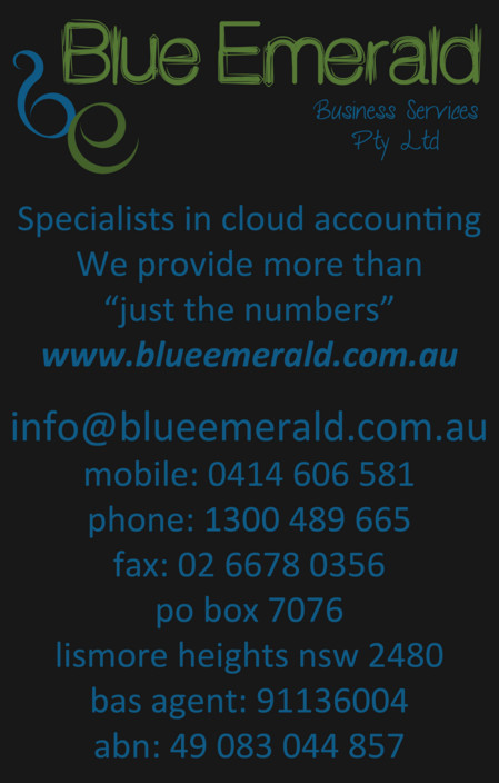 Blue Emerald Business Services Pty Ltd Logo and Images