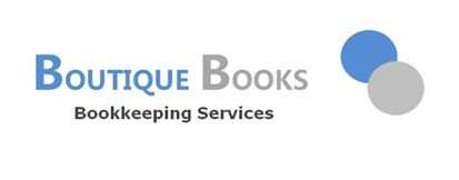 Boutique Books Bookkeeping Services Logo and Images