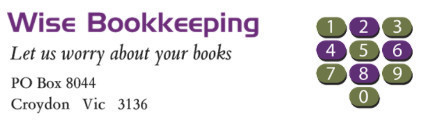 Wise Bookkeeping & Training Logo and Images