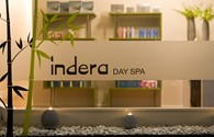 Indera Day Spa Logo and Images