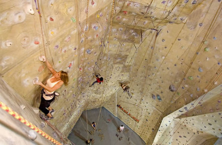 Cliffhanger Climbing Gym Logo and Images