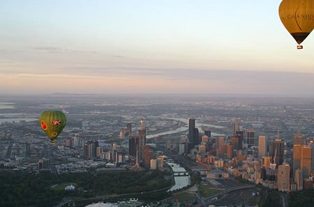 Balloon Flights Over Melbourne Logo and Images