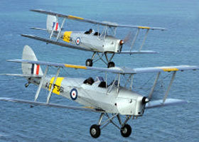 Vintage Tiger Moth Joy Flights Logo and Images