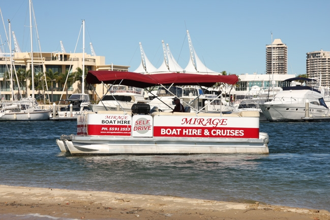 Mirage Boat Hire Logo and Images