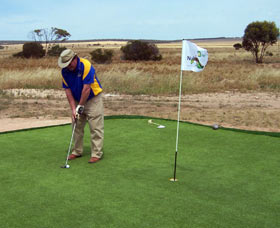 Nullarbor Links World's Longest Golf Course Australia Logo and Images