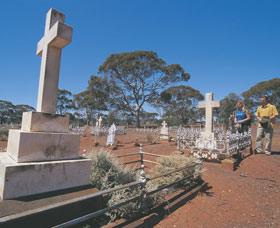 Old Pioneer Cemetery Coolgardie Logo and Images