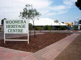 Woomera Heritage and Visitor Information Centre Logo and Images