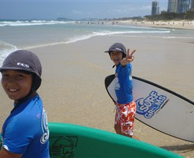 Broadbeach Surf School Logo and Images