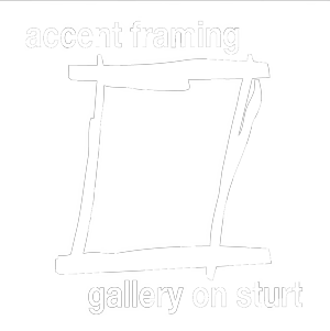 Accent Framing / Gallery on Sturt Logo and Images