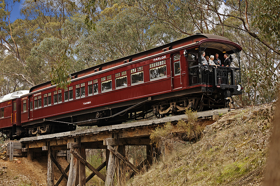 Victorian Goldfields Railway Logo and Images