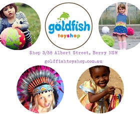 Goldfish Toy Shop Logo and Images