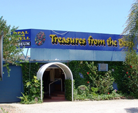 Treasures from the Deep - Opal and Shell Museum Logo and Images