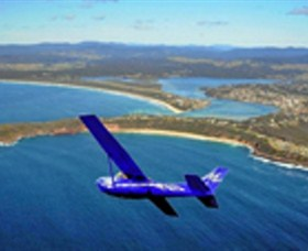 Merimbula Air Services Logo and Images