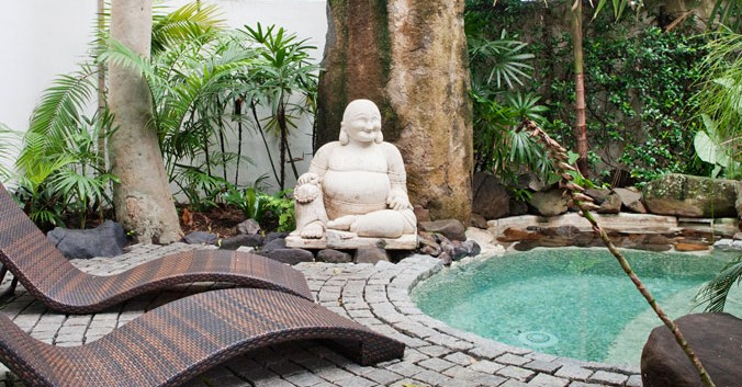 Buddha Gardens Balinese Day Spa Logo and Images