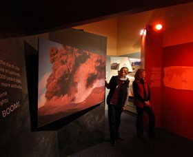 Volcanoes Discovery Centre Logo and Images