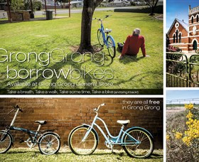 Grong Grong Borrow Bikes Logo and Images