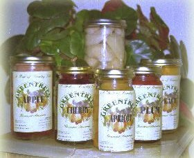 Greentrees Gourmet Preserves Logo and Images