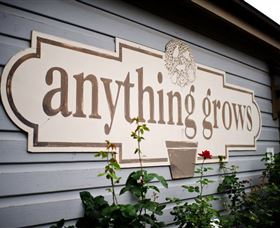 Anything Grows Nursery Coffee and Gift Shop Logo and Images