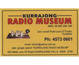 Kurrajong Radio Museum Logo and Images