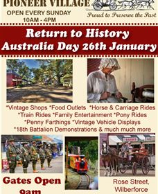 The Australiana Pioneer Village Logo and Images