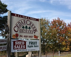 Cedar Creek Orchard Logo and Images