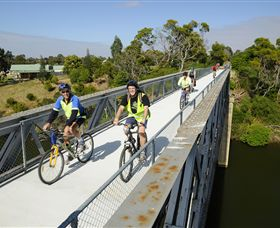 East Gippsland Rail Trail Logo and Images