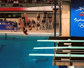 Dive Into History at Sydney Olympic Park Aquatic Centre Logo and Images