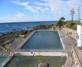 The Entrance Ocean Baths Logo and Images