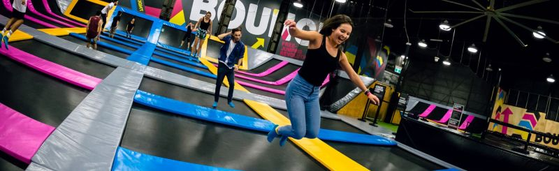 Bounce Inc Trampoline Park Logo and Images