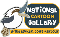 National Cartoon Gallery at The Bunker Logo and Images
