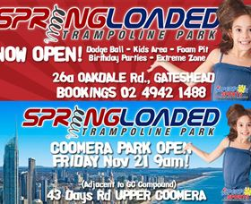 Springloaded Trampoline Park Logo and Images