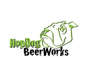 HopDog Beer Works Brewery Logo and Images