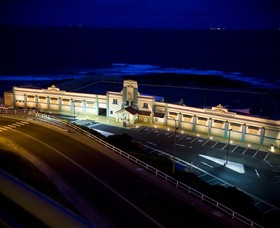 Newcastle Ocean Baths Logo and Images