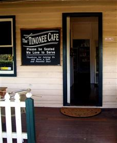 The Famous Tinonee Cafe and Gift Shop Logo and Images