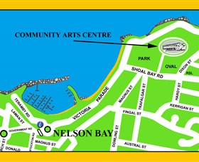 Port Stephens Community Arts Centre Logo and Images