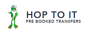 Hop To It Pre-Booked Transfers Logo and Images