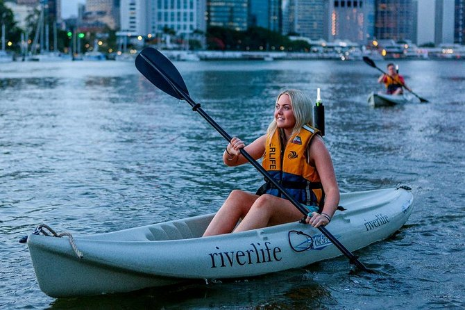 Saturday Night Brisbane Kayak Tour with Optional BBQ Dinner Logo and Images