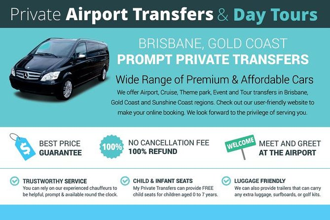 Brisbane Airport to Surfers Paradise- Private Airport Transfers Logo and Images
