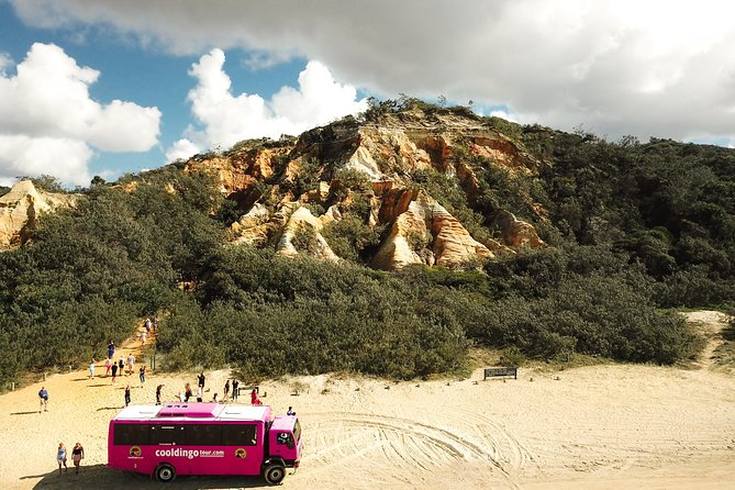 2-Day Fraser Island 4WD Adventure Tour Departing Rainbow Beach Logo and Images