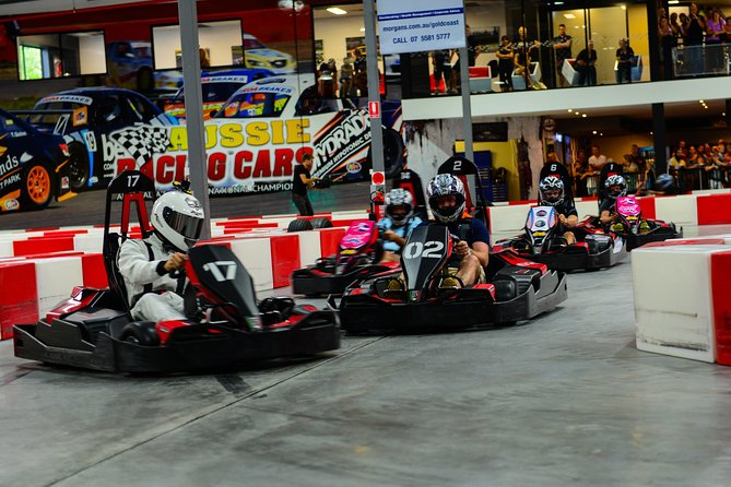 Indoor Go-Kart Racing at Game Over on the Gold Coast Logo and Images