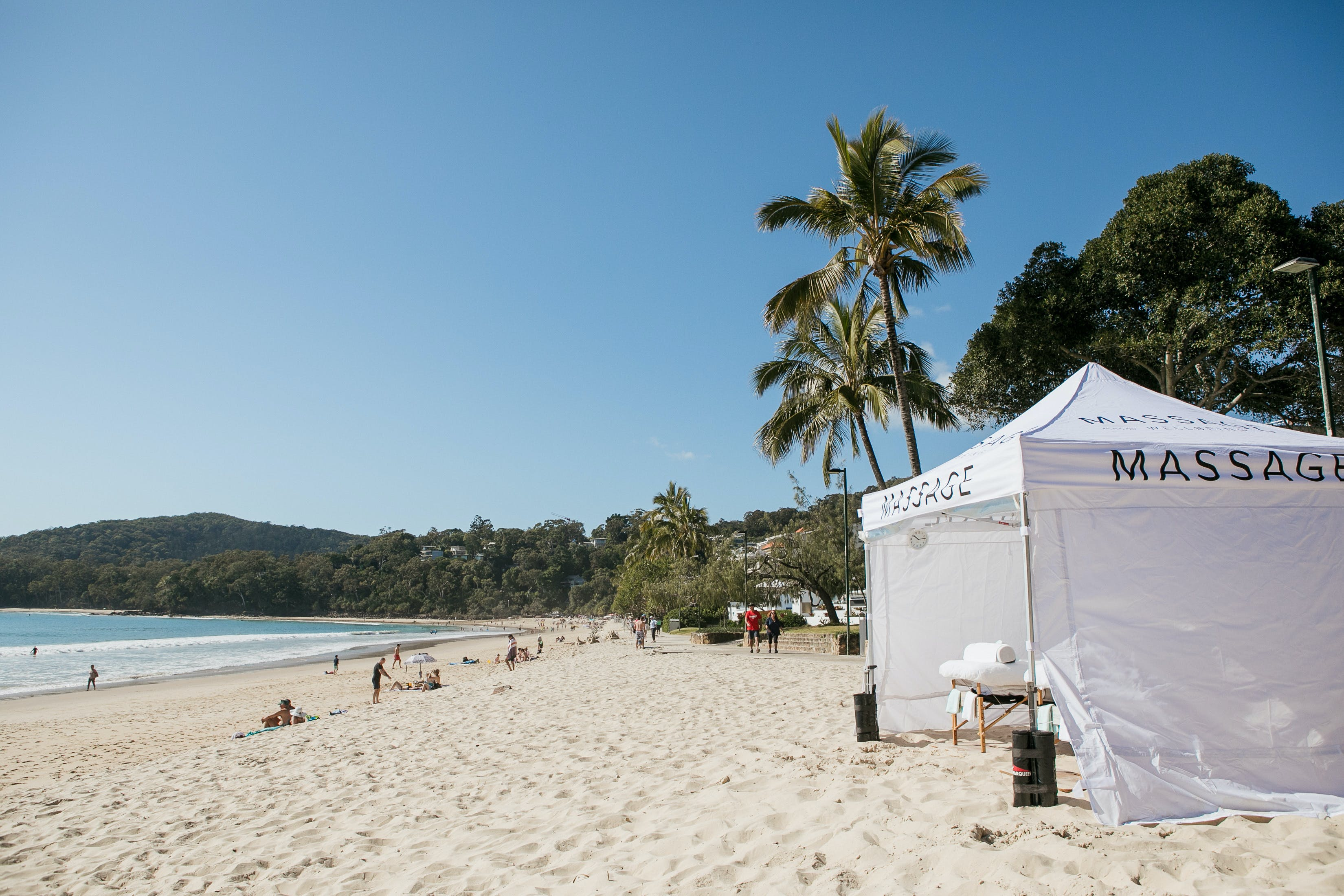 Noosa Beach Massage Logo and Images