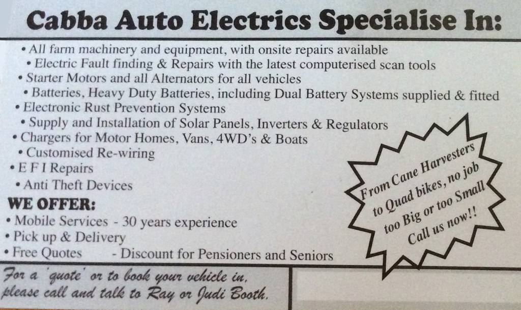 Cabba Auto Electrics