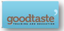 Goodtaste Training and Education Logo and Images