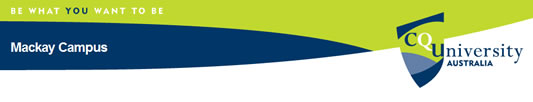 CQUniversity Mackay Logo and Images