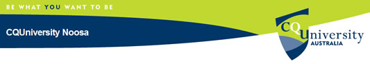 Cquniversity Noosa Logo and Images