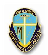 Queen of Apostles School Logo and Images