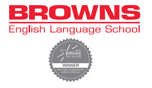 Browns English Language School Logo and Images
