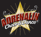 Adrenalin Cheer & Dance Logo and Images