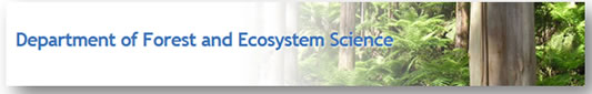Department of forest and Ecosystem Science Logo and Images