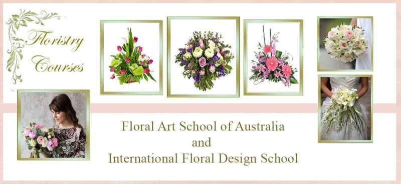 Floral Art School of Australia Logo and Images